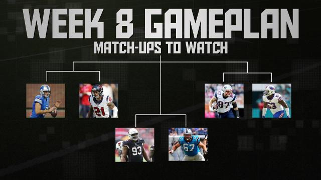 SI.com picks three player match-ups you should be watching in Week 8 of the NFL season.
