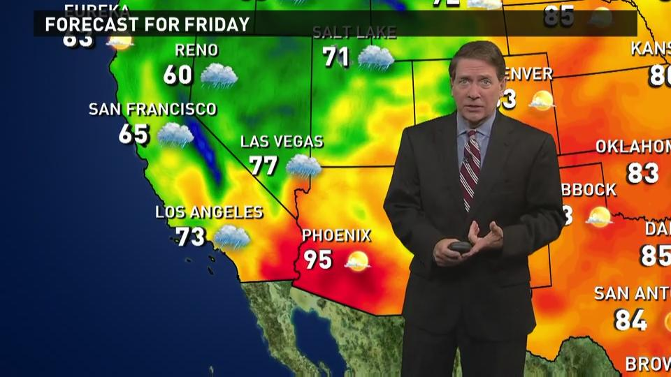 Friday's forecast: Stormy in the West