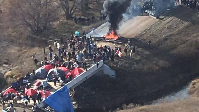 Tensions rise at Dakota Access Pipeline protests