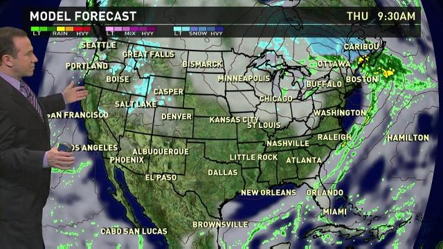Thursday's forecast: Light snow in Rockies