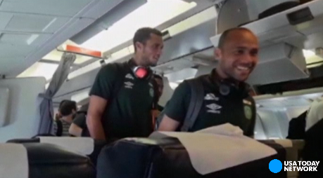 Several players on the Chapecoense soccer team shared their smiles and excitement on social media as they boarded their flight to Colombia. Their plane crashed on the way to the Copa Sudamerica finals in Medellin.