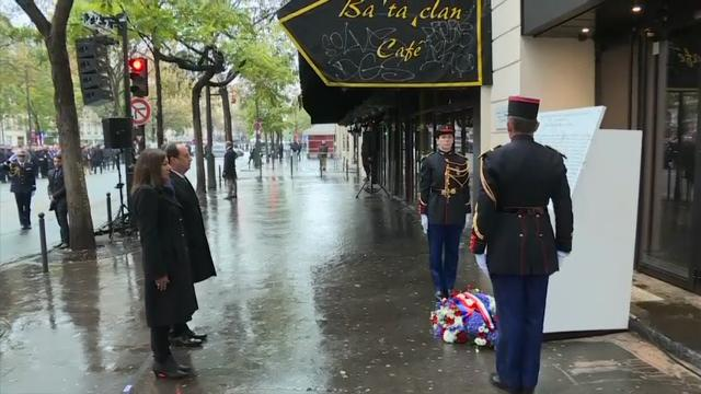 Raw: Anniversary of Attacks Marked Across Paris