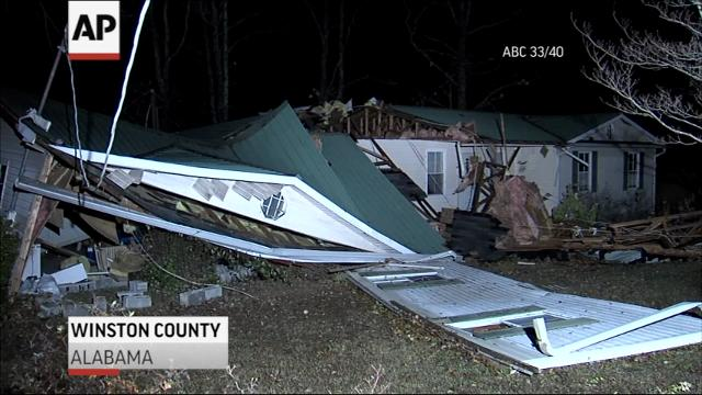 Possible tornado kills 3 in Alabama as storms cross South
