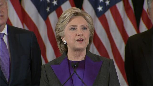 Clinton: 'Sorry we did not win this election'