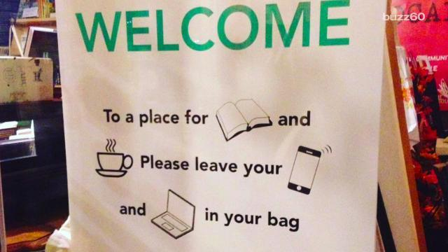 Bookstore bans Wi-Fi so customers pick up books instead of phones