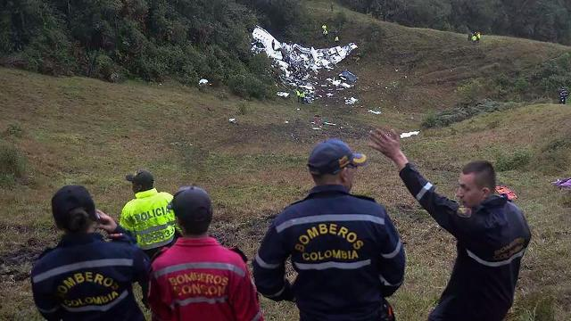 A chartered aircraft with 81 people on board, including a Brazilian first division soccer team heading to Colombia for a regional tournament final, has crashed on its way to Medellin's international airport.