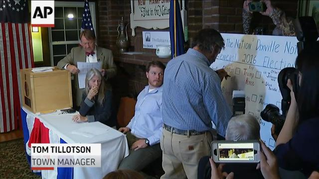 Dixville Notch, New Hampshire votes for Clinton