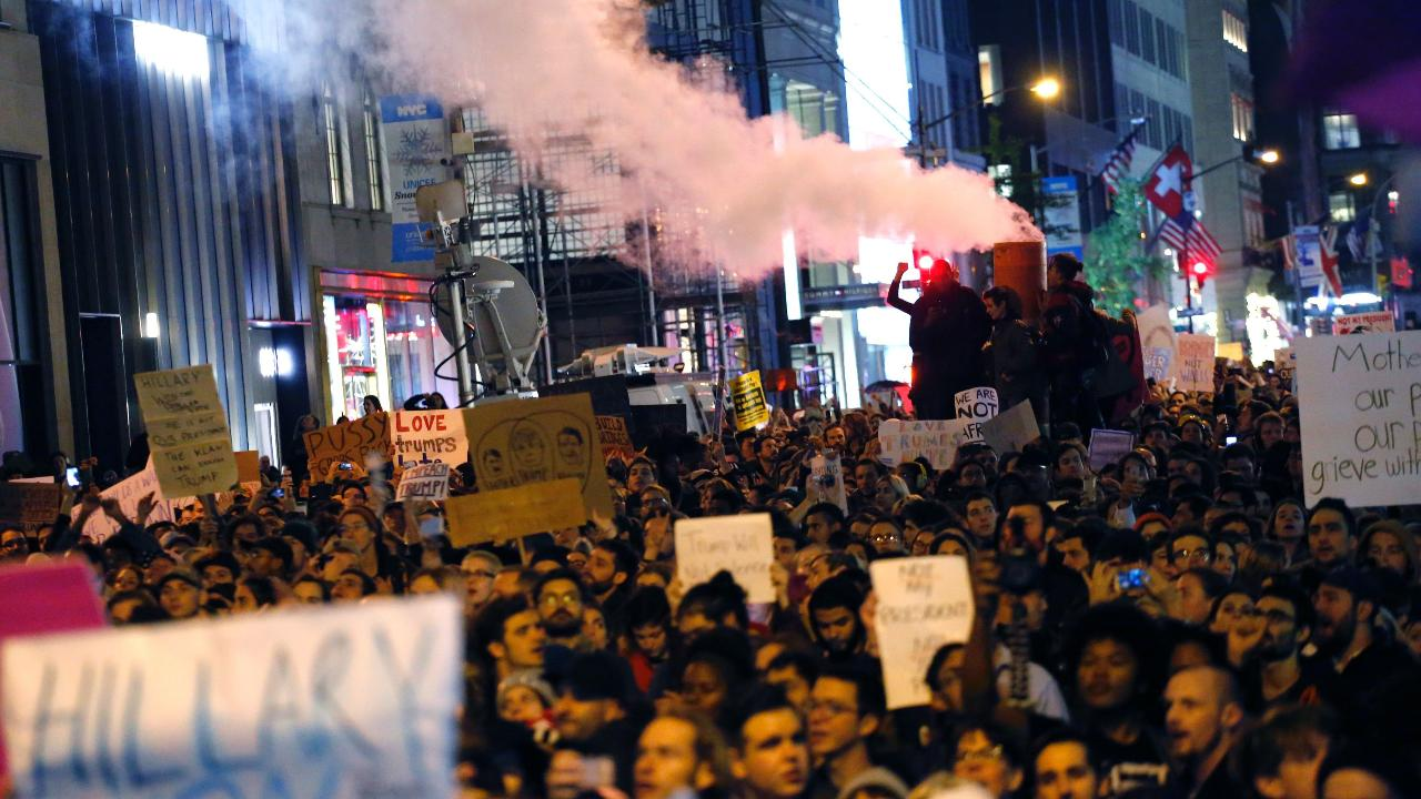 Protests erupt after Trump is elected