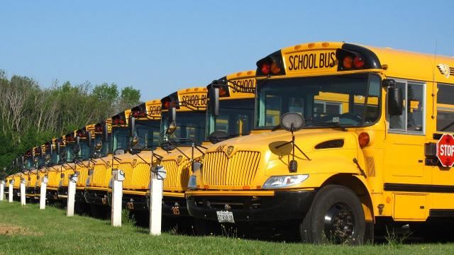 Here's why seat belts aren't required on all school buses #C59306