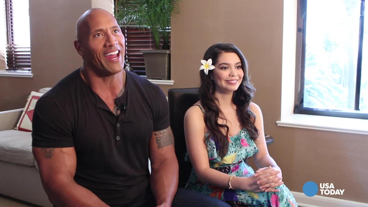 How 'The Rock' warms up his singing voice