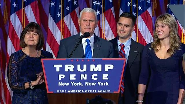 VP-elect Pence: 'This is a historic night'