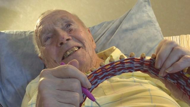 91 Year Old Man Knits Hats For The Homeless