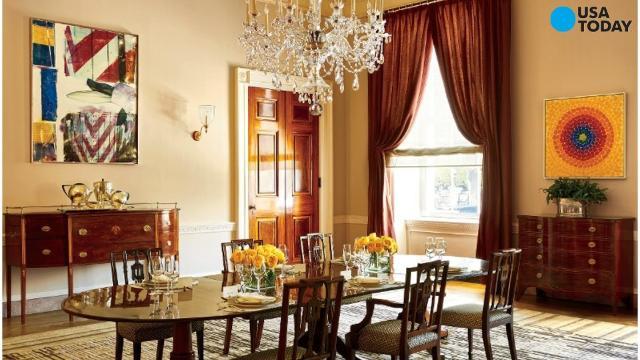 See The Obamas' White House Private Quarters For The First Time Classy Private Dining Rooms Dc Decor