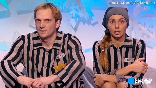 Russian ice dancers perform Holocaust-themed routine