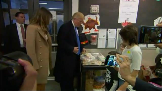Raw: Donald Trump arrives for Election Day vote