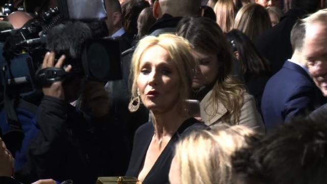 JK Rowling in New York for 'Fantastic Beasts' premiere