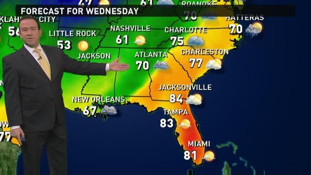 Wednesday's forecast: Rain continues for dry East
