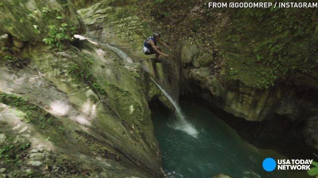 Watch these tourists cliff dive in Puerto Plata