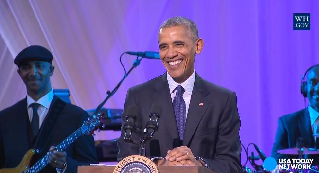 President Obama hosted his final musical evening in the White House for the special 'BET Presents Love & Happiness: An Obama Celebration'.  Gospel, R&B and rap megastars performed.