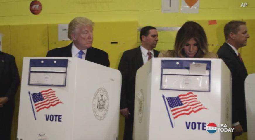 Did Trump check out Melania's ballot?