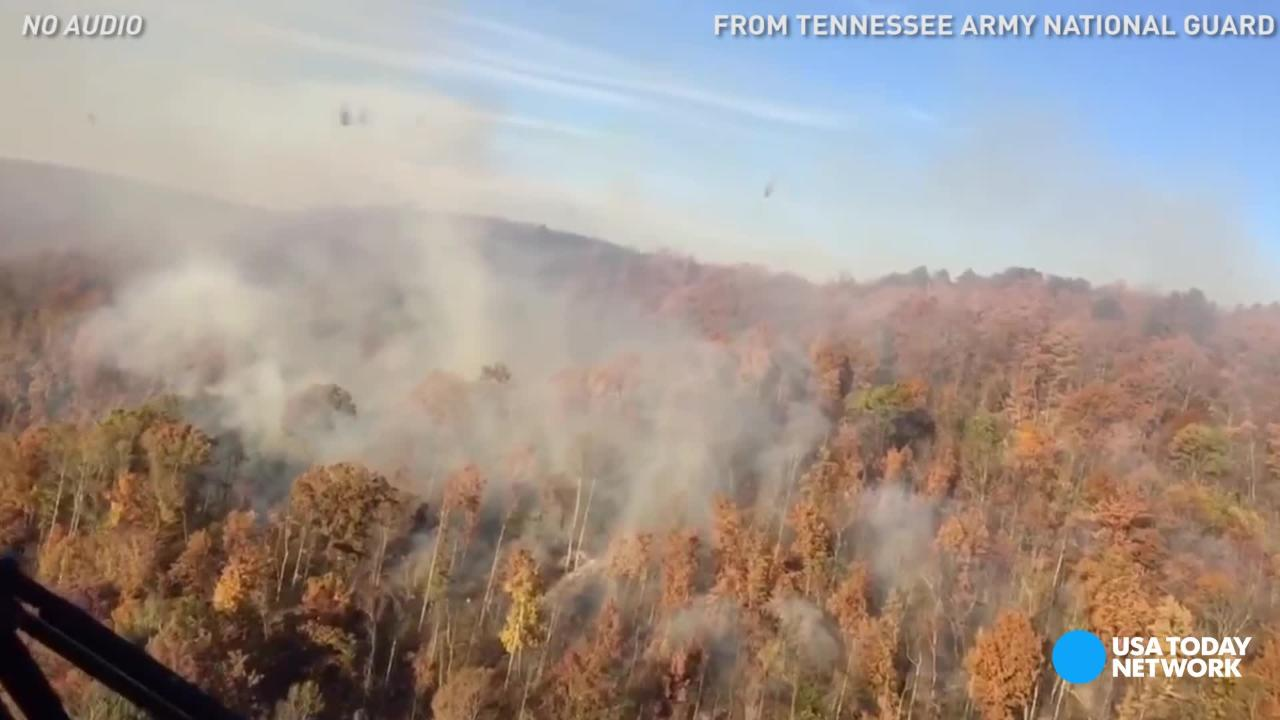 Smoke rises over Tennessee as wildfires rage