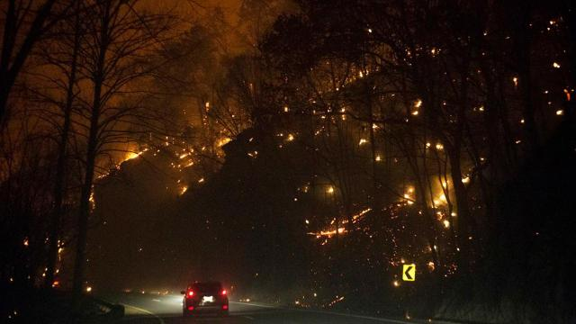 Gatlinburg homes, hotels ablaze as wildfires spread in the south