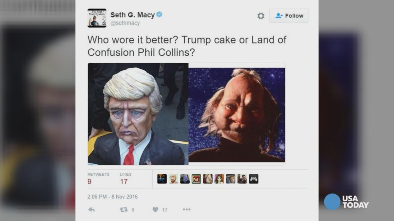 cbe471aa3e86f2 Donald Trump cake spotted at Trump Tower, becomes instant Twitter fodder
