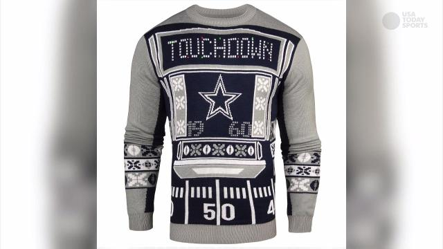 Ugly Christmas sweaters for the sports fan
