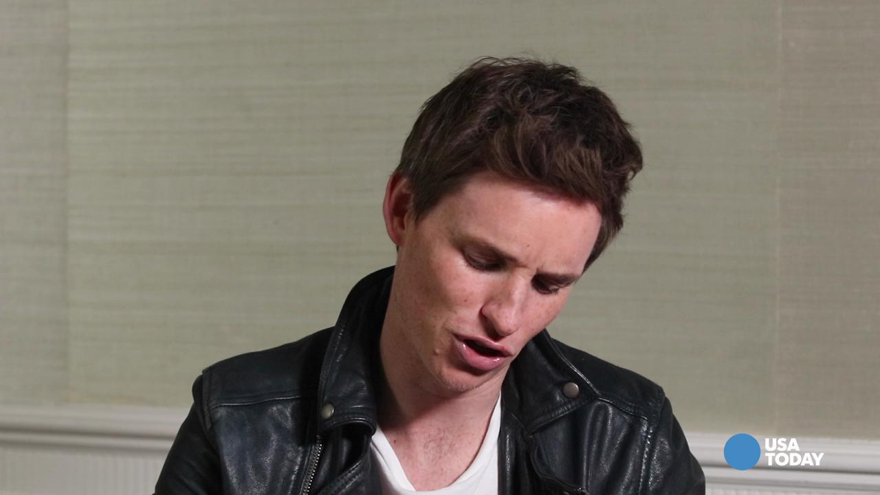 Eddie Redmayne dishes about his magic wand