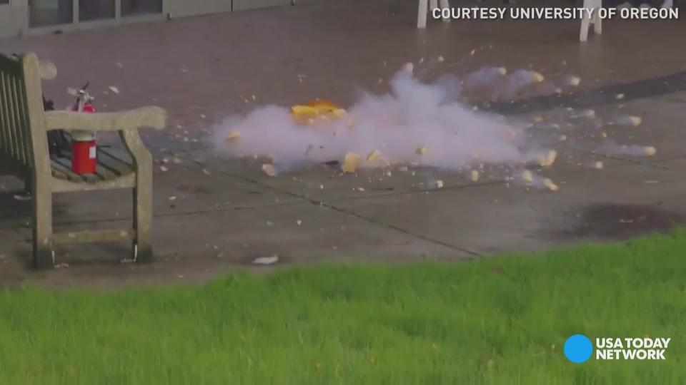 What happens when you freeze a pumpkin in liquid nitrogen? Students at the University of Oregon found out! We bet you can't watch this video just once.