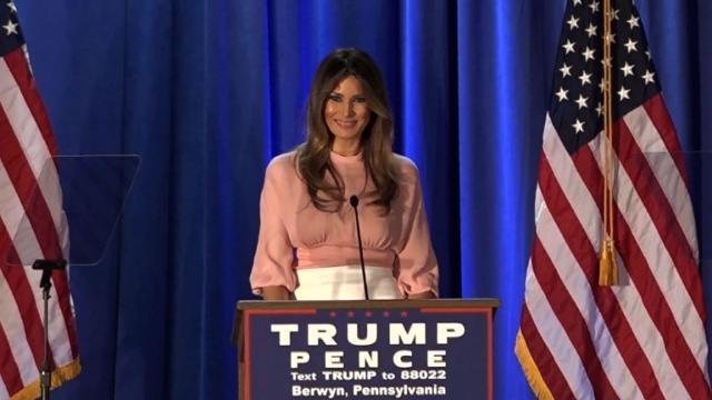Melania Trump's first solo campaign rally in Pennsylvania
