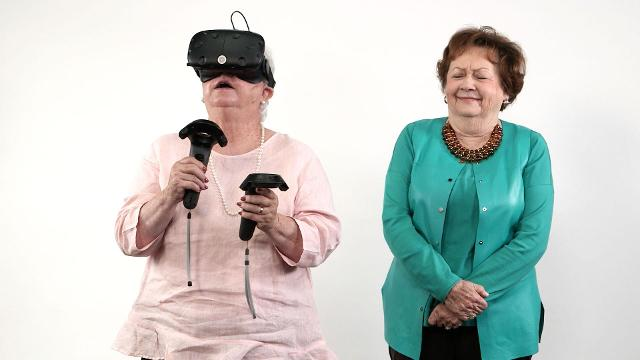 Virtual reality is the newest technological advancement in video gaming, so we decided to test it out on our favorite people: Southern grandparents. Some visited a scenic cliff, some shot arrows at intruders, and some killed zombies.