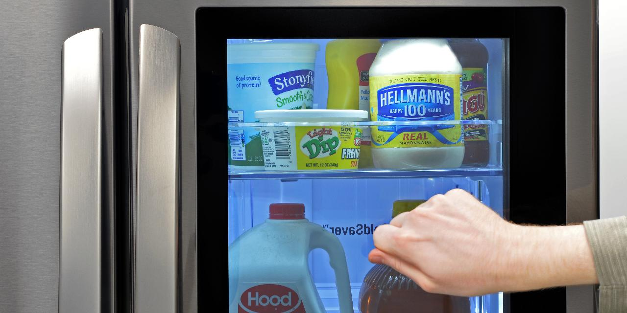 This fridge with a see-through door could be the future of high-tech kitchens & This fridge with a see-through door could be the future of high-tech ...