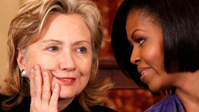 hillary rodham vs michelle obama essay Michelle obama, laura bush, hillary clinton, the late barbara bush, and  first  ladies who could justify or ignore the deportations of parents and caging  still,  bush's statement, a thoughtful essay that included data about the.