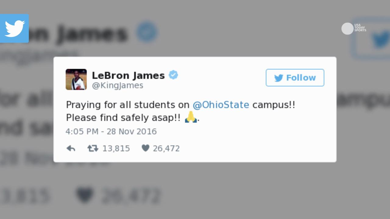The sports world sends out messages of support toward Ohio State in wake of Monday's attack.