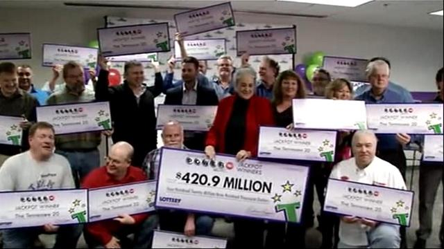 20 factory coworkers to split $420 Million Powerball jackpot