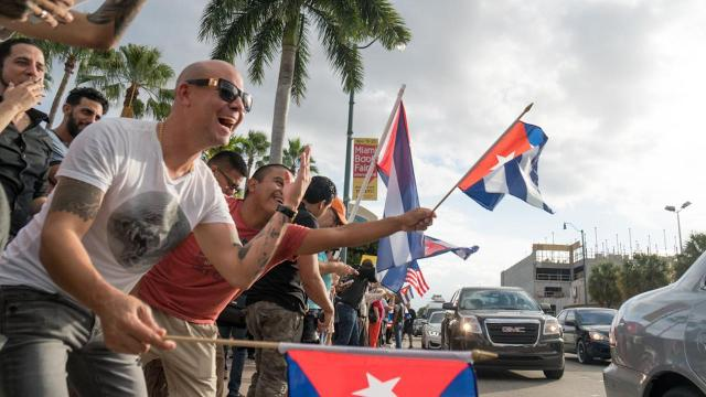 Miami residents take to the streets to celebrate Fidel Castro's death