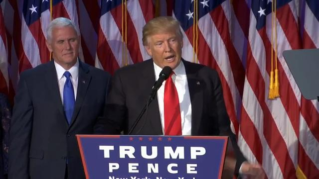 Trump: Clinton 'congratulated us on victory'