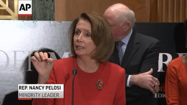 Senate and House Democrats gathered on Capitol Hill Wednesday to reject Republican plans for Social Security, Medicare and Medicaid reform. (Dec. 7)
