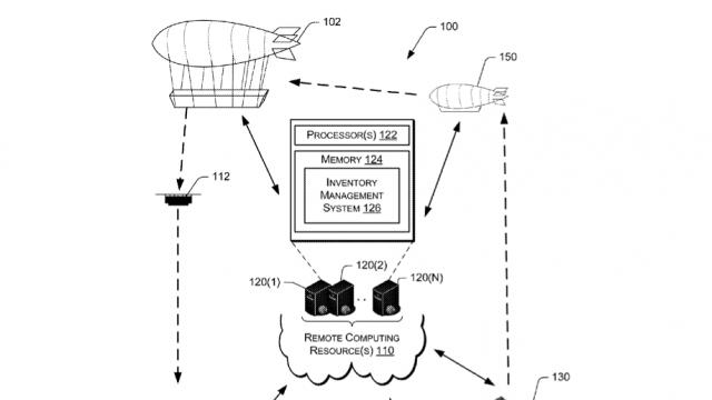 Amazon owns a patent for an 'airborne fulfillment center'