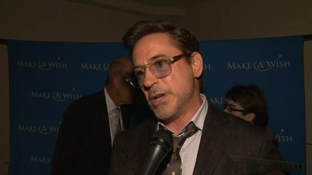 Robert Downey Jr. left his Iron Man suit at home as he was honored for his work with Make-a-Wish at a fundraising gala in Los Angeles. (Dec. 9)