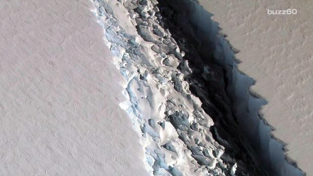 NASA scientists say a massive rift in the Antarctic Peninsula's Larsen C ice shelf may break off and cause an iceberg the size of the state of Delaware. Sean Dowling (@seandowlingtv) has more.