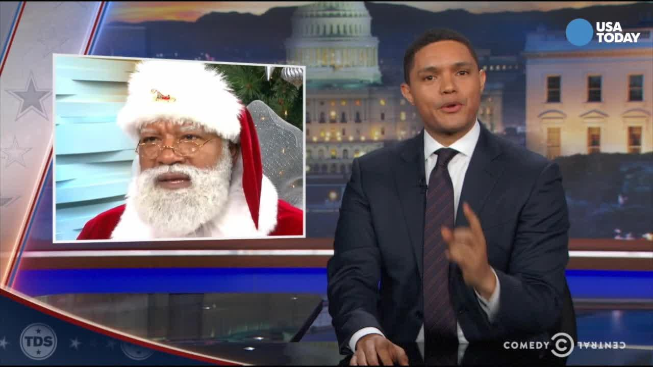 The late-night comics on Mall of America's first black Santa and the over-the-top reaction from some. Take a look at our favorite jokes, then vote for yours at opinion.usatoday.com.
