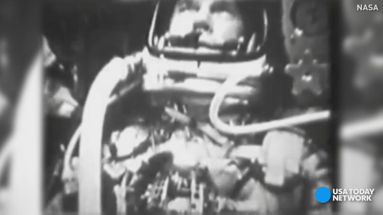 John Glenn made history February 20, 1962. A previous version of this video misstated one of Glenn's achievements as an astronaut. He was the first American to orbit the Earth.