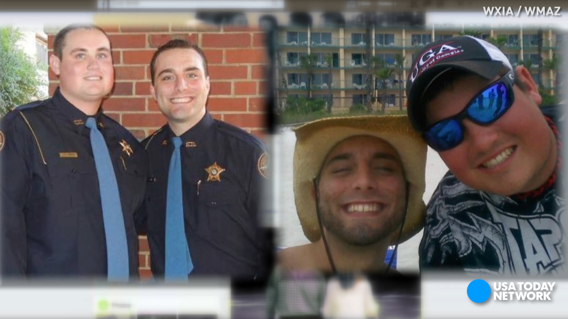 A massive manhunt is underway after two police officers were shot near Georgia Southwestern State University. One of the officers was killed. The other, his best friend, was critically injured.