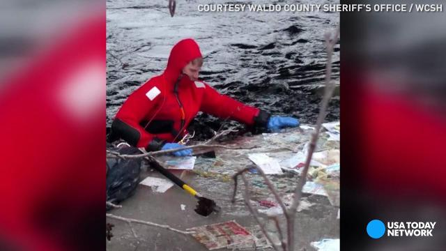 Fire chief braves icy river for unusual recovery
