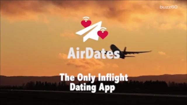 """A new app called AirDates is the world's first and only in-flight dating app, and it's being dubbed """"Tinder for air travel"""" because it works much like Tinder. Sean Dowling (@seandowlingtv) has more."""