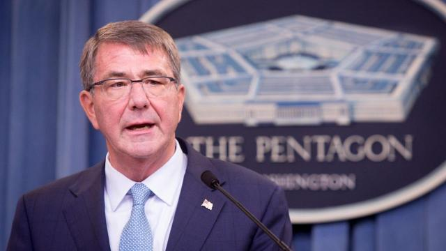 U.S. Defense Secretary Ash Carter said Saturday that as many as 200 more American troops are being sent to Syria to help Kurdish and Arab fighters capture the ISIS group's key stronghold of Raqqa.