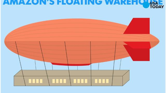 Amazon patented a flying warehouse