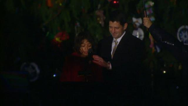 Capitol Christmas tree lit in annual ceremony
